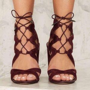 Sam Edelman Shoes - Sam Edelman Yardley Lace Up Heels in Port Wine 7.5